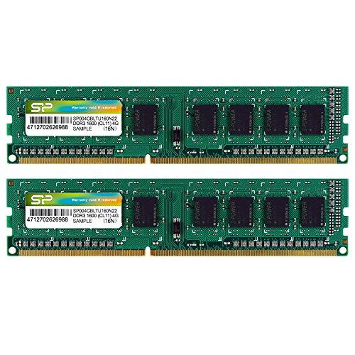 シリコンパワー デスクトップPC用メモリ DDR3 1600 PC3-12800 4GB×2枚 240Pin Mac 対応 SP008GBLTU160N22