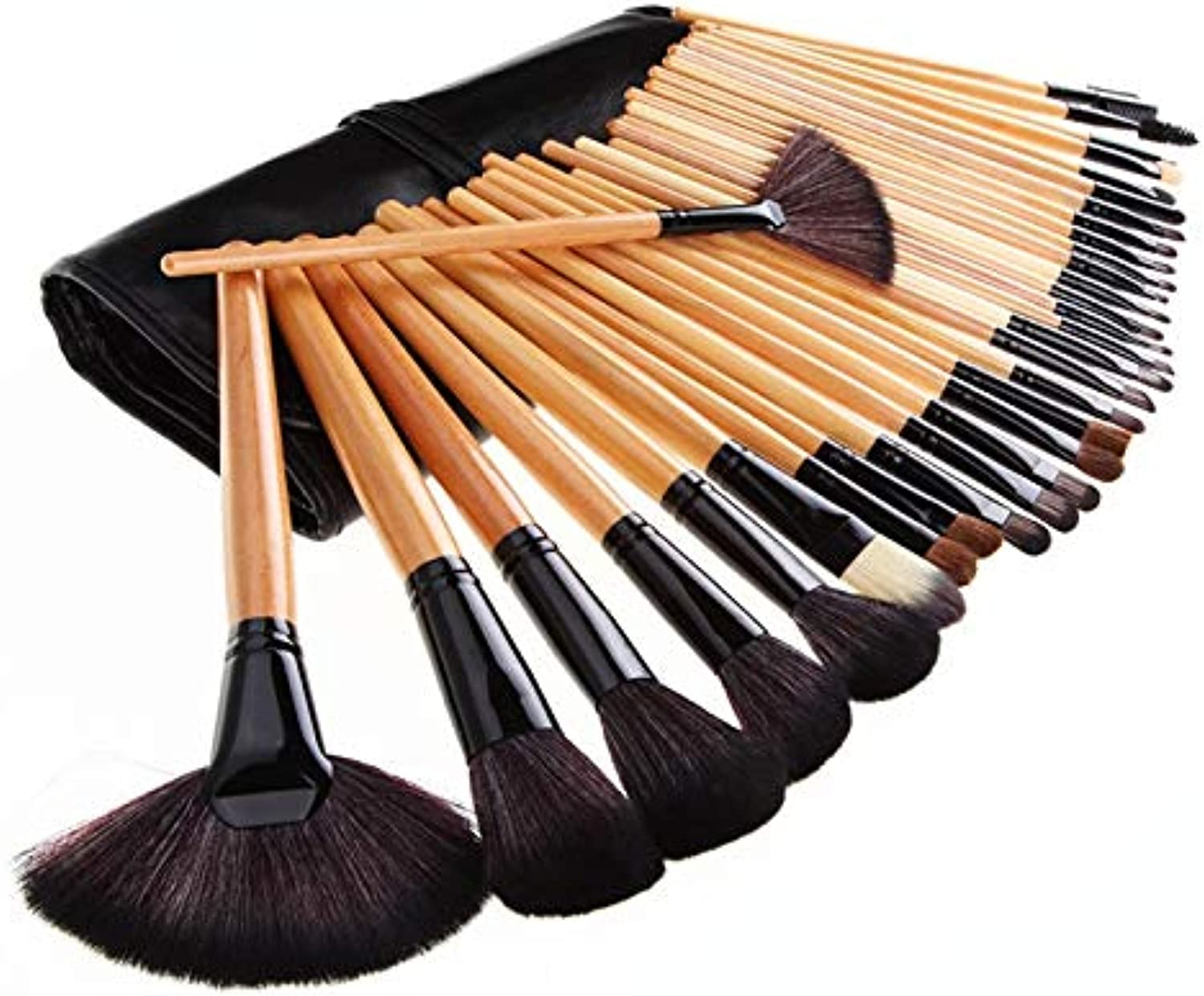 Fashion Easy to Carry 32pcs Professional Makeup Brush(Clear) Pretty (color   Clear)