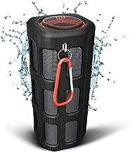 TREBLAB FX100 Waterproof Rugged Bluetooth Speaker - Shockproof, for Outdoors in All Weather, Loud, Built-in 7000mAh Power Bank, FM Mode, Portable Wireless Speaker for Travel, Golf Cart, Bike