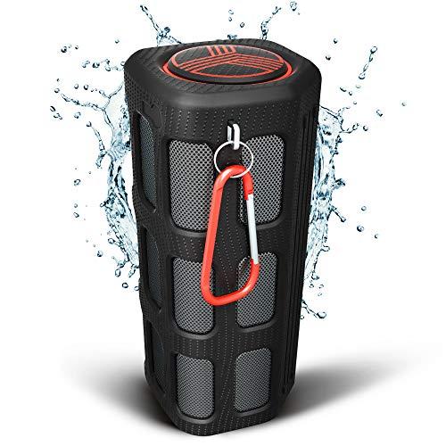 TREBLAB FX100 Waterproof Rugged Bluetooth Speaker - Shockproof, for Outdoors in All Weather, Loud, Built-in 7000mAh Power Bank, Portable Wireless Speaker for Travel, Golf Cart, Bike