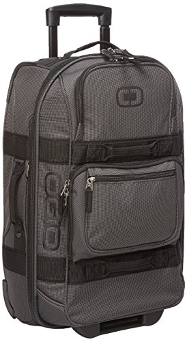 OGIO Layover Reliable Small Luggage/Suitcase Ideal for Travelling, Black Pindot (46 Litre Capacity)