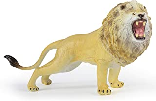 RECUR Toys Lion Action Figure Toys, Soft Hand-Painted Skin Texture Plastic Wild Animal Toys for Kids- 1:10 Scale Realistic Design Lion Replica 9.25inch, Ideal for Collectors Kids Boys Ages 3 and Up