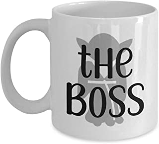 The Boss Funny gifts leaving farewell goodbye work birthday Christmas coffee mug tea cup gift
