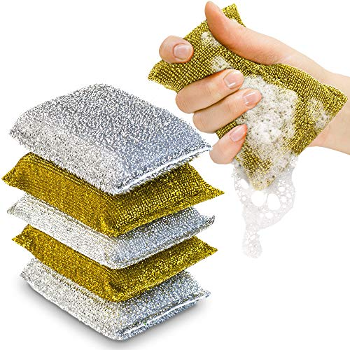 SPONGENATOR Kitchen Scrubbing Sponges - Heavy Duty Non-Scratch Scrubbing Cleaner Sponges in 2 Colors - Multi-Surface Non-Metal Dish Scouring Scrubbers for Fast Cleaning (6)