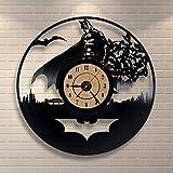 Vinyl Record Uhr Batman Design Wall Decor