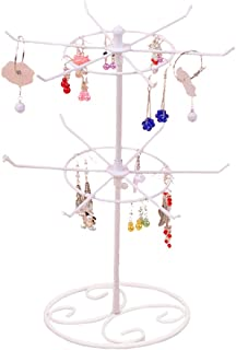 Botitu Jewelry Stand, 16.2 inch Tall Revolving Necklace Holder with 3 Tier 12 Hooks Jewelry Display for Girls and Women, for Hanging Bracelets, Hair Accessories, Earring Organizer Tree