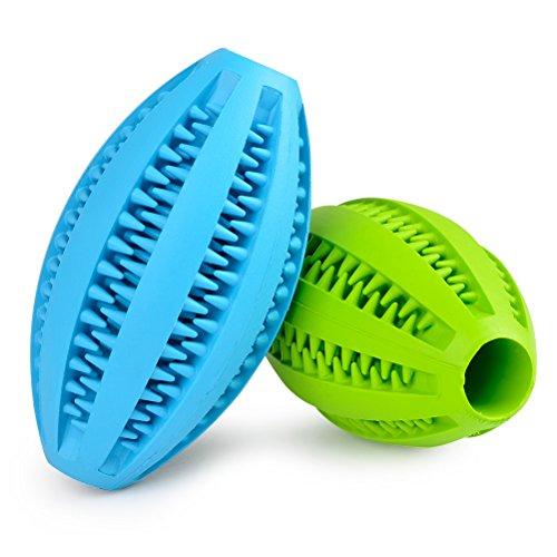 ATPWONZ 2er Pack Hundeball mit Zahnpflege-Funktion Hundespielzeug aus Naturkautschuk für Leckerli Hundespielball für Große & Kleine Hunde Reinigungstraining Set