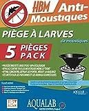 HBM 005-PR-PGE005 AquaLab larve trappole Anti-zanzare, da assemblare, in resina, trasparente, 60 x 35 x 45 cm confezione...