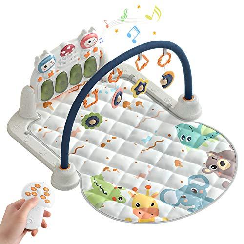 Alfombras de Juego y Gimnasios,Manta de Juegos Bebe Juguetes para Bebés y Primera Infancia,Manta de Juego parBebé,Gimnasio bebé aprendizaje(Animal)