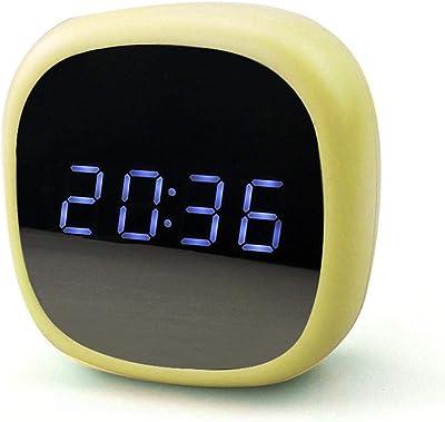 TEEPAO - Reloj de mesita de noche digital para dormitorio, reloj despertador activado por voz