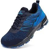 UCAYALI Zapatos de Trabajo Hombre Zapatillas de Seguridad Punta de Acero Transpirable Ligero Zapatos de Industria y Construcción Azul B Gr.45
