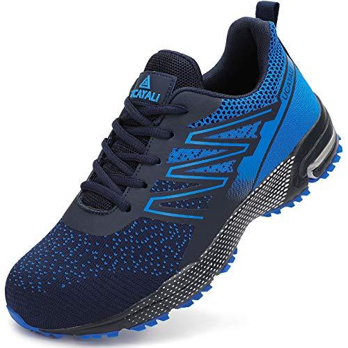 UCAYALI Zapatos de Trabajo Hombre Zapatillas de Seguridad Punta de Acero Transpirable Ligero Zapatos de Industria y Construcción Azul B Gr.45 ✅