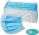 50 PCS de máscaras de 3 capas, protección respiratoria, protección contra el polvo, protección facial desechable engrosada