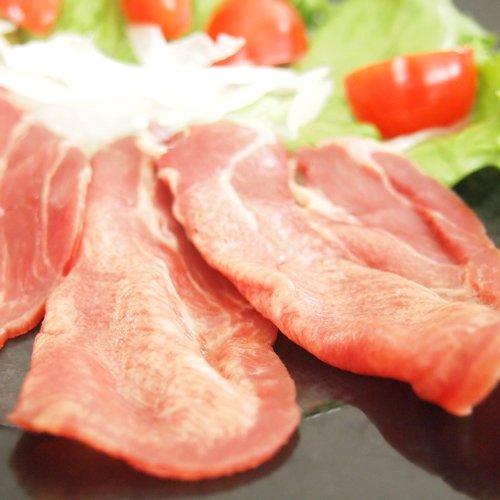 極旨 牛タン生ハム スライス 100g 生ハムサラダ、パスタ、生春巻き、カルパッチョにもオススメ 牛刺し、ユッケもご用意しております (100g×20パック)