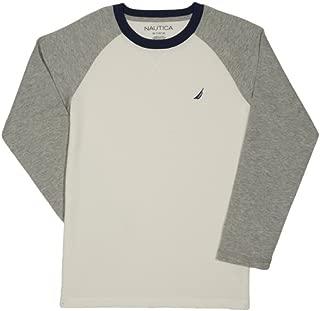 Nautica Boys' Long Sleeve Raglan T-Shirt, Cream, 7