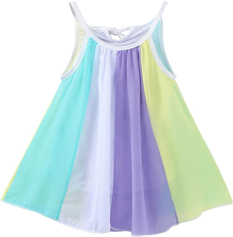 Toddler Kids Baby Girl Clothes Summer Seaside Beach Dress Sling Skirt Floral Skirt Cute Kids Sundress Outfits