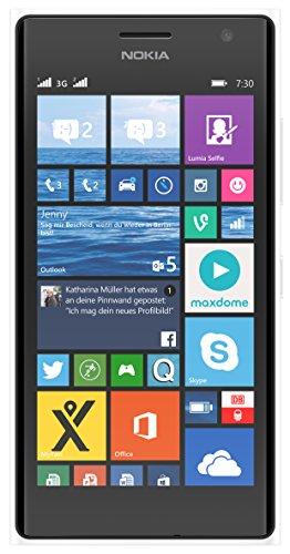 Nokia Lumia 730 Smartphone (4,7 Zoll (11,9 cm) Touch-Display, 8 GB Speicher, Windows 8.1) weiß
