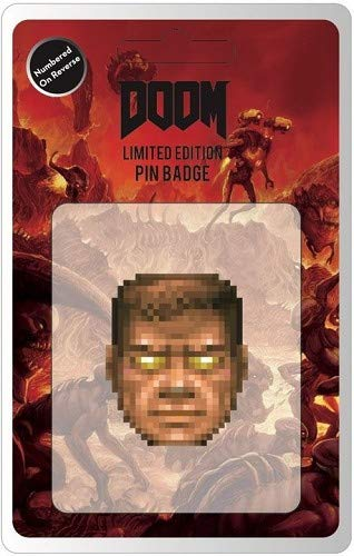 Fanattik Pin Badge-Doom Face, DC6410BFF'