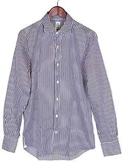 [フィナモレ] TOKYO トーキョー ETTORE ストライプ コットン シャツ ブルー×ホワイト 012564 A8160 メンズ