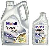Mobil 153659 Leichtlaufmotorenöl Super 3000 XE 5W-30, 5 Liter Plus 1 Liter