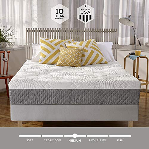 Sleep Innovations Shea 10-inch Memory Foam Mattress, Bed in a Box, Made in the USA, 10-Year...