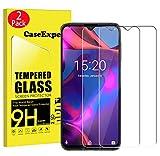 CaseExpert 2 Pack - UMIDIGI One MAX Protector de Pantalla, Ultra Tanque Transparente Cristal 9H Cristal Templado Glass Protector de Pantalla para UMIDIGI One MAX