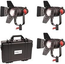 Came-TV Boltzen 30W Fresnel Fanless Focusable LED Bi-Color 3-Light Kit