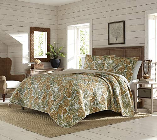 Tommy Bahama | Newland Forest Collection | Quilt Set-100% Cotton, Reversible, All Season Bedding with Matching Shams, Pre-Washed for Added Softness, King, Dark Yellow