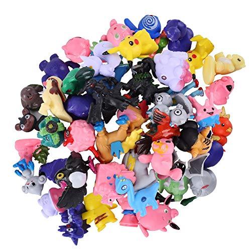 Pokemon Figur, Pikachu Pocket Monster, Pearl Minifiguren Pokémon Pikachu Pearl Minifiguren Pokemon Action Figuren für Mottoparty und Kindergeburtstag (24pcs)