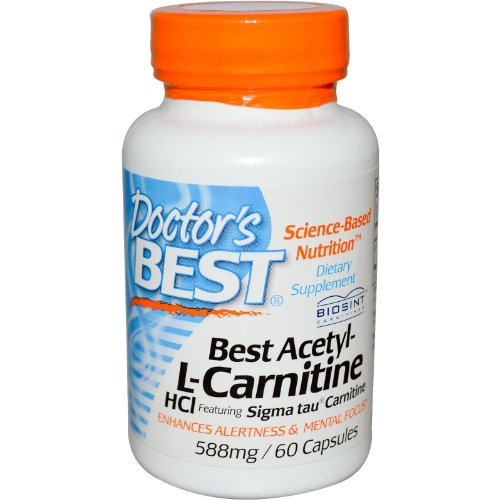 Doctor's Best Acetyl L-Carnitine with BIOSINT, 500mg, 60 Vegetarian Capsules