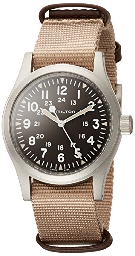 Hamilton Khaki Field Brown Dial Nylon Strap Men's Watch H69429901
