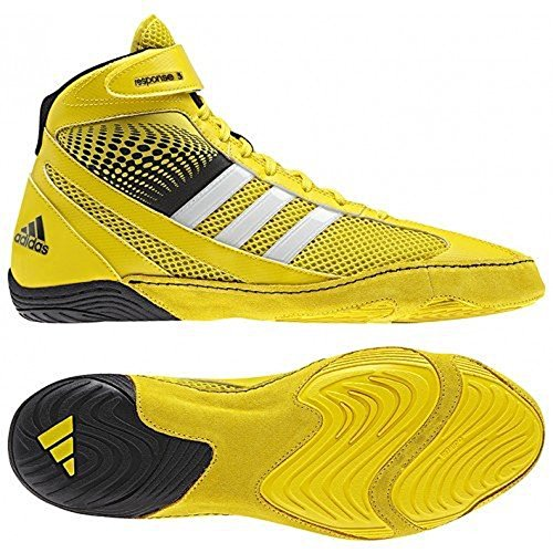 adidas Response 3.1 Wrestling Shoes - Bright Yellow/Silver/Black - 15