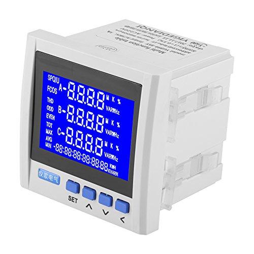 Energiezähler, Multifunktionsstromzähler oder 3 Phasen Stromspannung Frequenz Energiezähler V A Hz kWh RS485 Wird für die Energieverteilung verwendet
