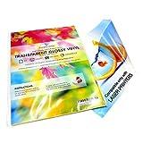 10 hojas A4 calidad láser imprimible transparente vinilos brillante autoadhesivo