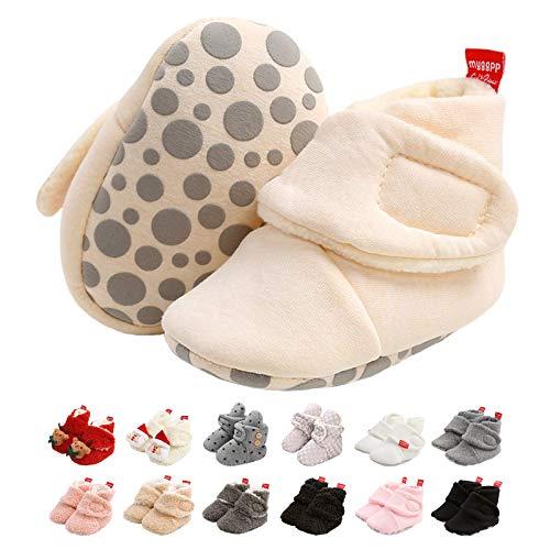 Botas de Niño, Zapatos para bebés Lindo Invierno Calcetín Invierno Soft Sole Crib Raya de Caliente Boots de Algodón para Bebés 0-18 Meses