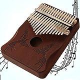 LYTLD Kalimba 17 Clés Piano à Pouce Professionnel Instrument De Musique avec Accessoires Doigt en Bois De Haute Qualité avec Tuning Hammer pour Enfants Adultes,débutants,Professionnels Et Bande