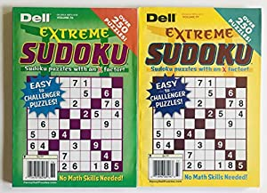 Lot of 2 Dell Extreme Sudoku Volume numbers 76 and 77 Penny Press