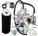 YFM660 Carburetor Carb kit for Yamaha Grizzly 660 YFM660 2002-2008 4-Stroke Engine ATV Carburetor PD42J 42mm,including Air Filter+Intake Manifold Carburetor Boot Joints