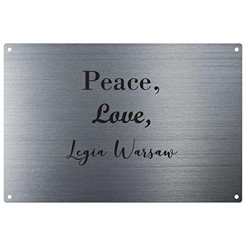 My Personal Product Love, Peace, Legia Varsavia Vintage Decorative Wall Plaque–Pronto da Appendere