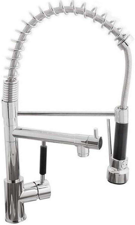 Küche Bad Wasserhahnspring Kitchen Wasserhahn Schwenkauslauf Einhebelmischer Pull-Brause Chrom Mit Push