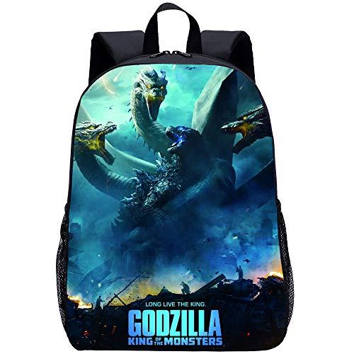 Godzilla - Mochila escolar con varios bolsillos, para niños, para niños, jóvenes, niñas, ligera, para la escuela (Godzilla6,16 pulgadas)
