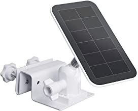 TIUIHU Arlo Accessory Gutter Mount for Arlo Solar Panel Mount Arlo Ultra Solar Panel Compatible with Any Other Cameras with 1/4 Screw - Durable and Simple Install (White,1-Pack)