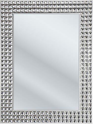 Kare Design Spiegel Crystals 80x60cm zilver