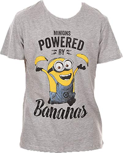 Minions Ich einfach unverbesserlich T-Shirt Bananas Grau 168 (S)