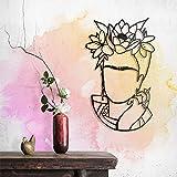 Hoagard - Frida Arte de Pared de Metal | 41cm x 68cm | Metal Wall Art by Arte geométrico de Pared de Metal y decoración de Pared