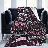 Blanket Breast Cancer Awareness Hopes Throw Blanket Ultra Soft Velvet Blanket Lightweight Bed Blanket Quilt Durable Home Decor Fleece Blanket Sofa Luxurious for Men Women Kids Blanket 60x80in