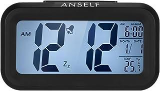 comprar comparacion Despertador digital LED Anself con función repetición, sensor de luz, luz de fondo, indicación de hor...