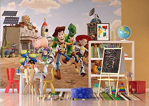 AG Design FTDXXL 2205  Toy Story, Papier Fototapete Kinderzimmer- 360x255 cm - 4 teile, Papier, multicolor, 0,1 x 360 x 255 cm