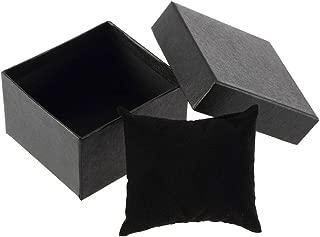 HEART SPEAKER Cardboard Present Gift Box Case for Bangle Jewelry Ring Earrings Wrist Watch (Black)