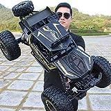 LUNAH 4WD RC Cars 1:10 Super Giant Remote Control Car Toy Eléctrico Off Road Drift Car Racing Toy Big Foot Motores Dobles Coches controlados a Distancia Aleación RC Off-Road Buggy para Nieve Grava